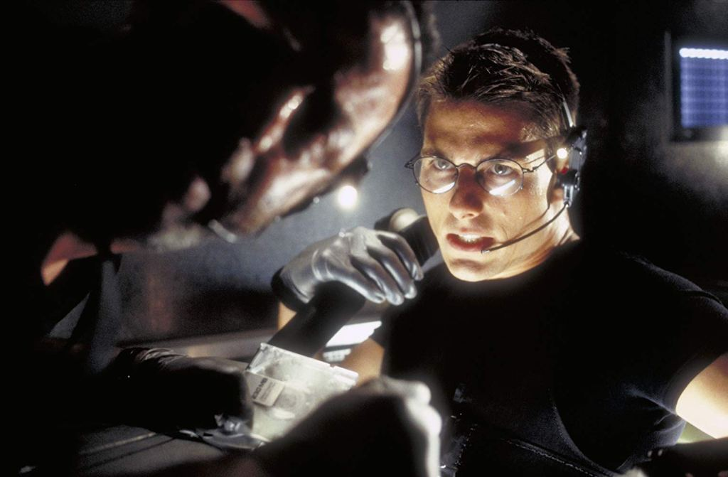 Filmstill MISSION IMPOSSIBLE (1996), Tom Cruise, Jean Reno